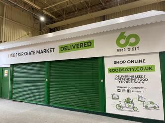 Online retailer Good Sixty launching in Leeds Kirkgate Market on October 25.